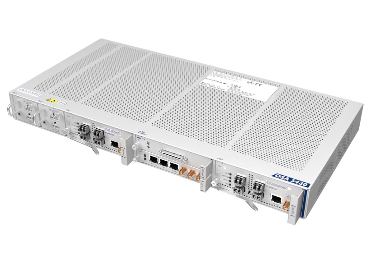 Oscilloquartz unveils industry-first modular sync solution with 10G interfaces