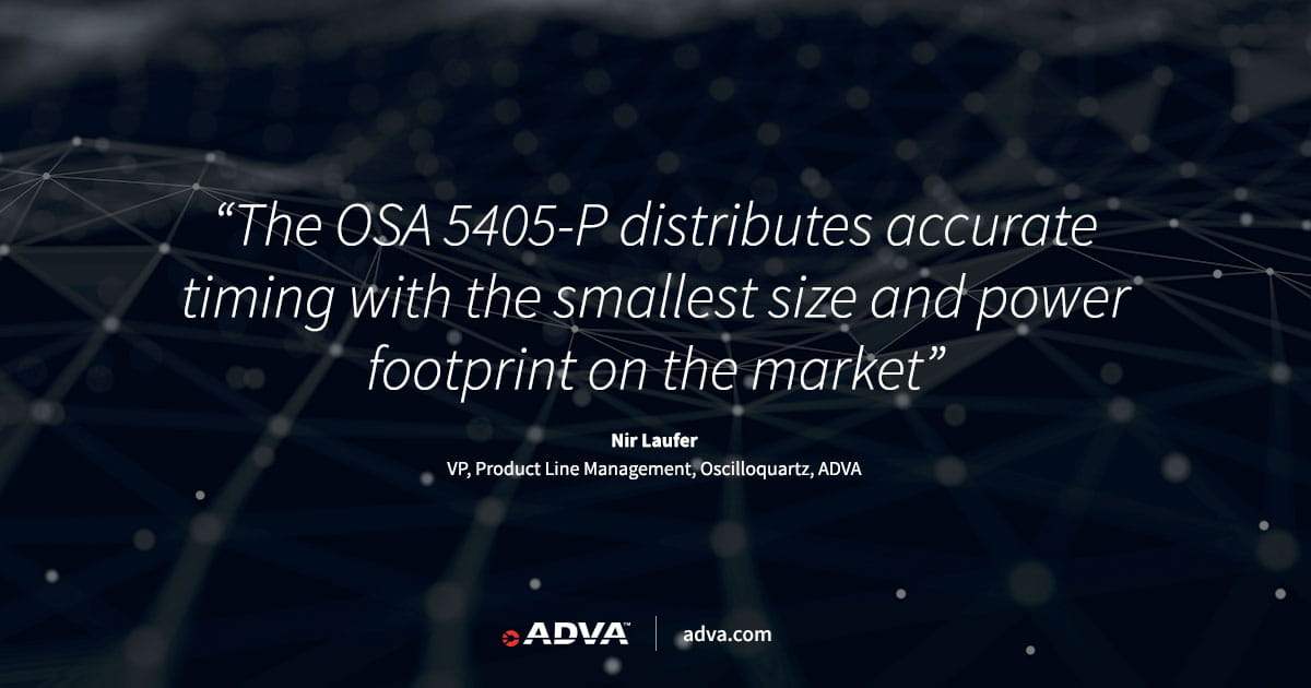 ADVA launches industry's most compact timing solution for digital power substations