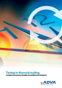 Timing in financial trading application brochure cover