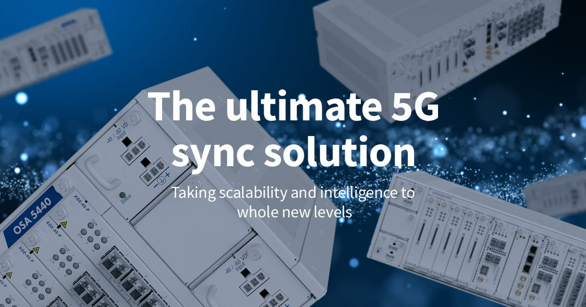 Oscilloquartz launches ultra-scalable phase and time sync solution for the 5G era