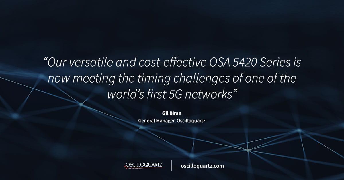 ADVA timing technology synchronizes major US 5G network