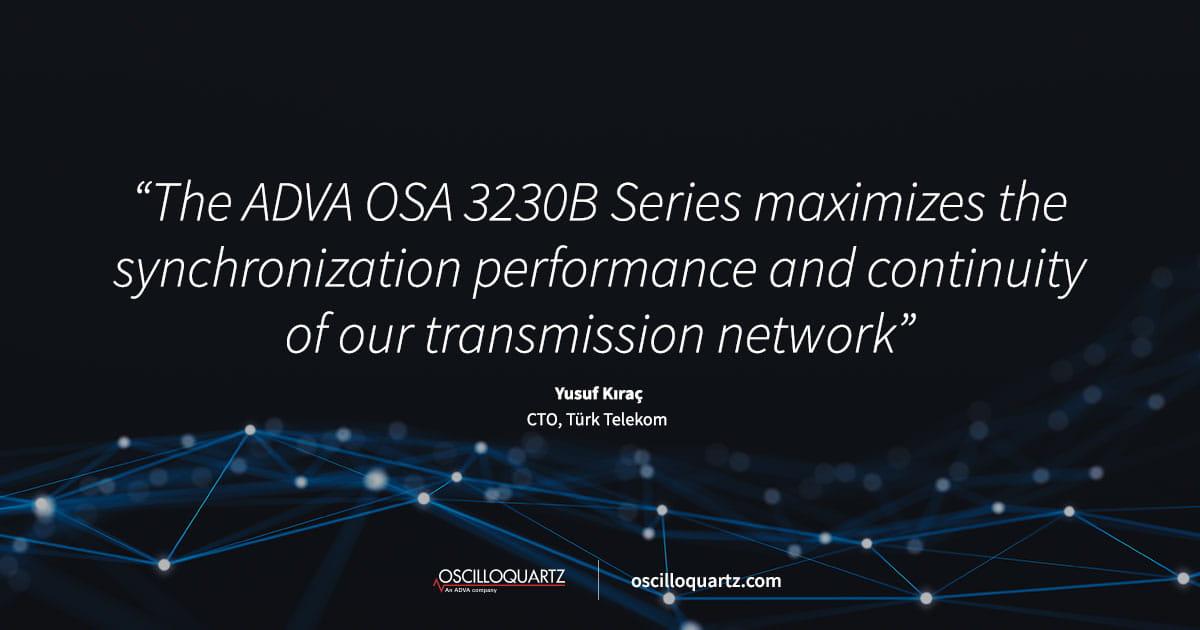 Türk Telekom upgrades its synchronization network with ADVA's high-performance cesium clocks