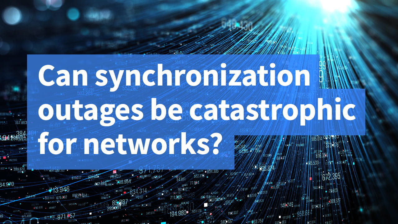 Can synchronization outages be catastrophic for networks?